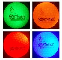 4 Nighthawk Glow in Dark LED golf balls