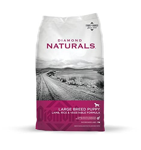 Diamond Naturals Large Breed Puppy Real Meat Recipe Natural Dry Dog Food with Real Pasture Raised Lamb