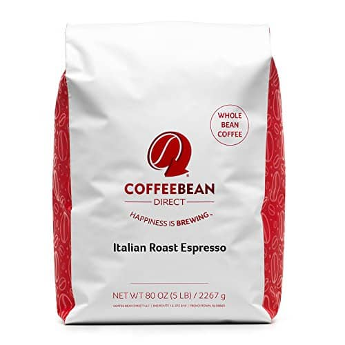 Coffee Bean Direct Italian Roast Espresso- B002GWFA1Y