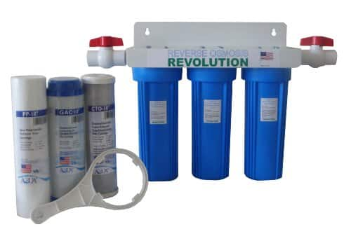 Whole House 3-Stage Water Filtration System, 3/4