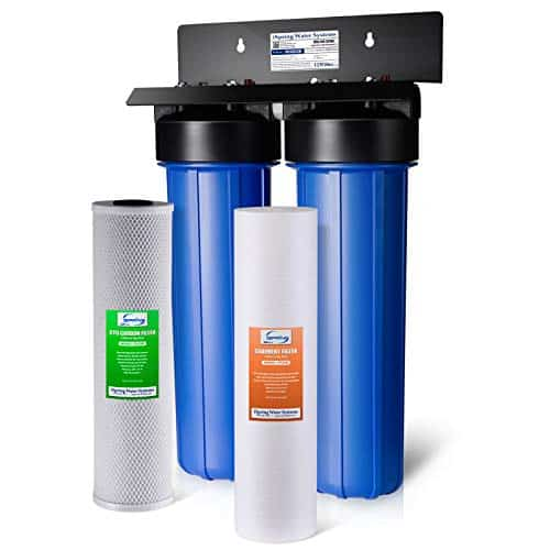 iSpring 2-Stage Whole House Water Filtration System- B00LBHIW8S