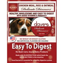 Dave's Pet Food Delicate Dinner ETD Chicken Meal, Rice and Oatmeal Dry Dog Food