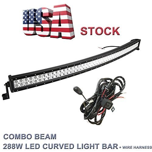 Topcarlight 50-inch 288W Curved Work Light Bar