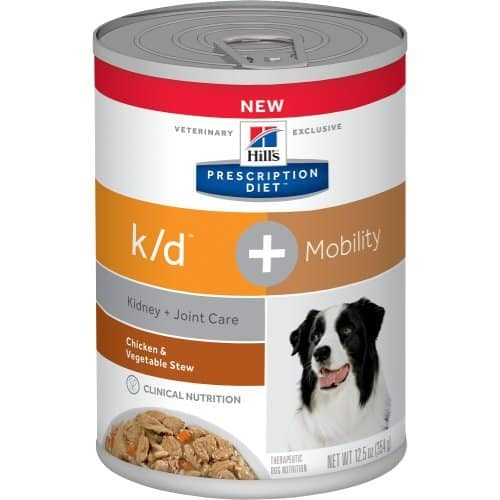Hill's Prescription diet k/d plus Canine Chicken & Vegetable Stew Canned Dog Food 12/12.5 oz