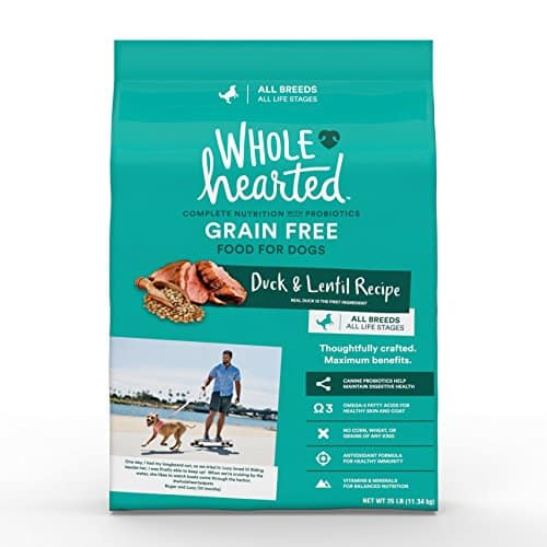 wholehearted Grain Free All Life Stages Duck and Lentil Recipe Dry God Food