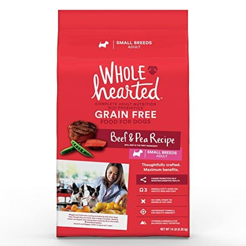 WholeHearted Grain Free Small Breed Adult Beef and Pea Recipe Dry Dog Food