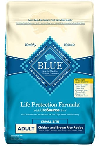 Blue Buffalo Life Protection Formula Natural Adult Small Bite Dry Dog Food, Chicken and Brown Rice-