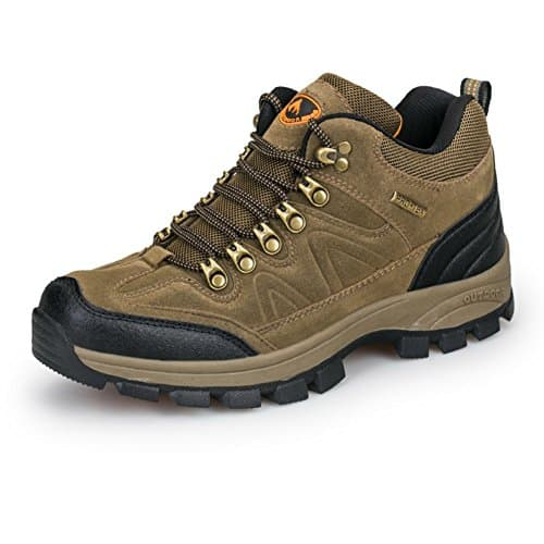 3C Camel Men's Waterproof Lightweight Breathable Leather Low Top Hiking Shoes Sneakers