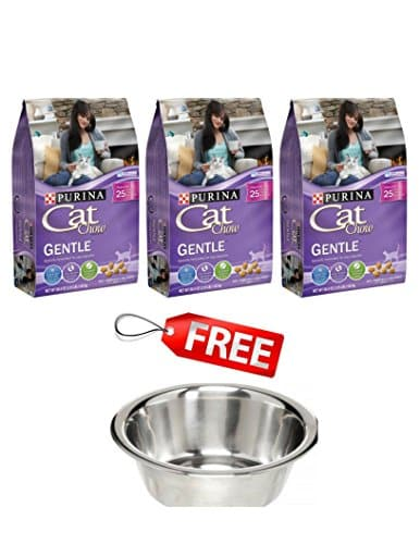 Purina Cat Chow Gentle Dry Food Pack Of 3