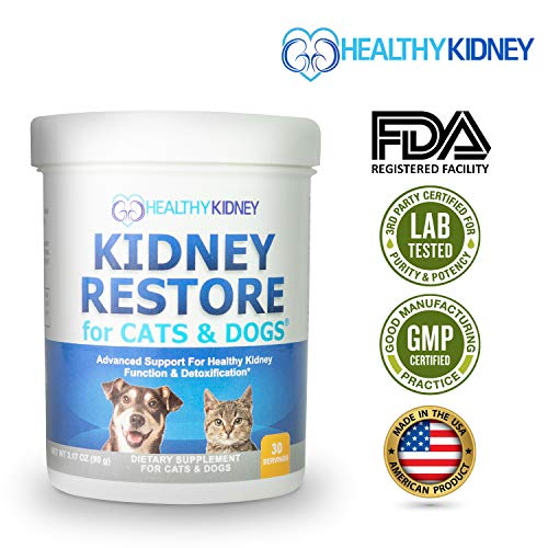 Cat and Dog Kidney Support, Natural Renal Supplements to Support Pets, Feline, Canine Healthy Kidney Function & Urinary Track.