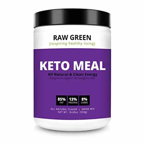 Raw Green Keto Meal Replacement with Coconut MCT Oil