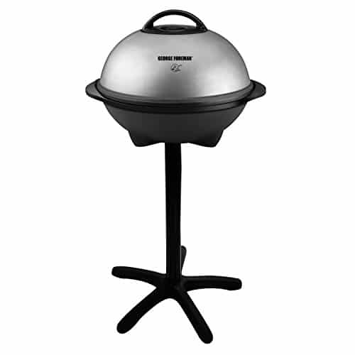 George Foreman 15-Serving Indoor/Outdoor Electric Grill, Silver