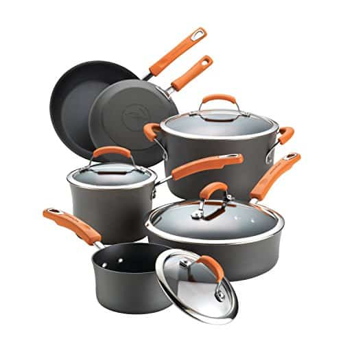 Rachael Ray Hard-Anodized Nonstick 10-piece Cookware Set