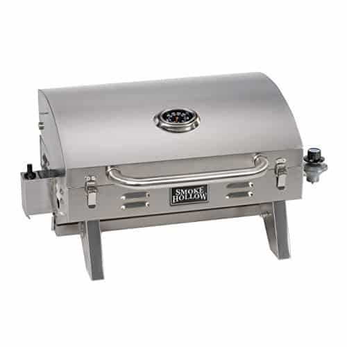 Smoke Hollow 205 Stainless Steel Tabletop Propane Gas Grill by Smoke Hollow