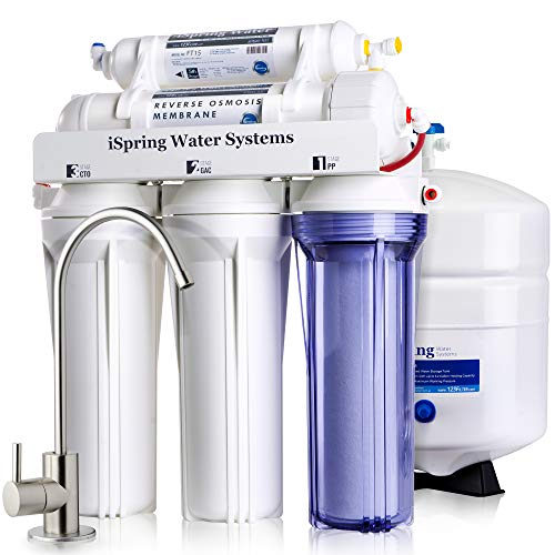 iSpring RCC7 High Capacity Under Sink 5-Stage Reverse Osmosis Drinking Water Filtration System