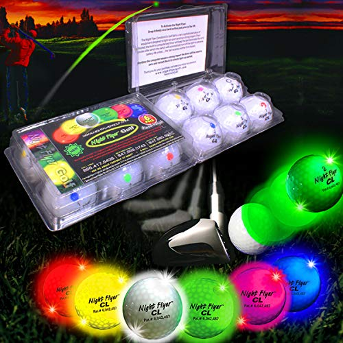12 Pack of Lighted Golf Balls by Night Flyer
