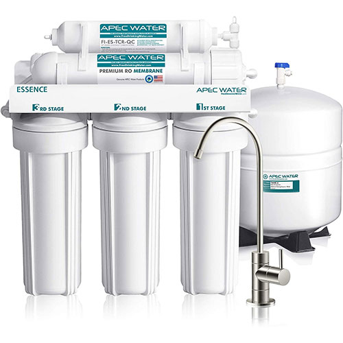 APEC ROES-50-A Top Tier 5-Stage Ultra Safe Reverse Osmosis Drinking Water Filter System