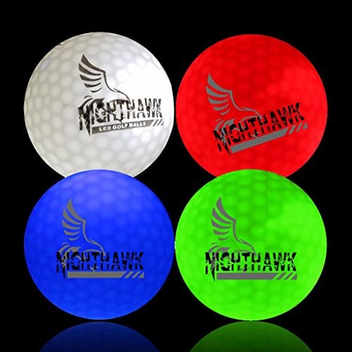 4 LED Glow In The Dark Golf Balls by NightHawk