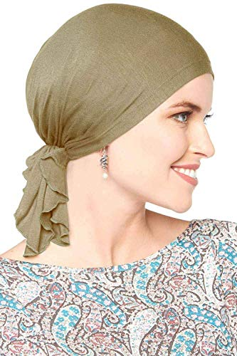 Cardani Bamboo Slip-On Pre-Tied Scarf-Caner Headwear for Women