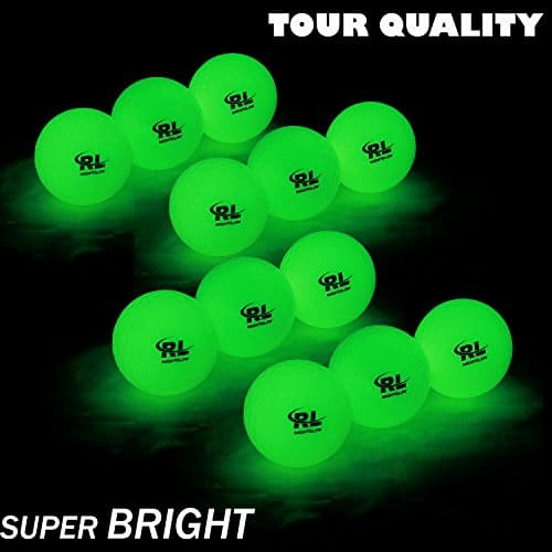 12 Pack Night Sports Golf Balls by R&L