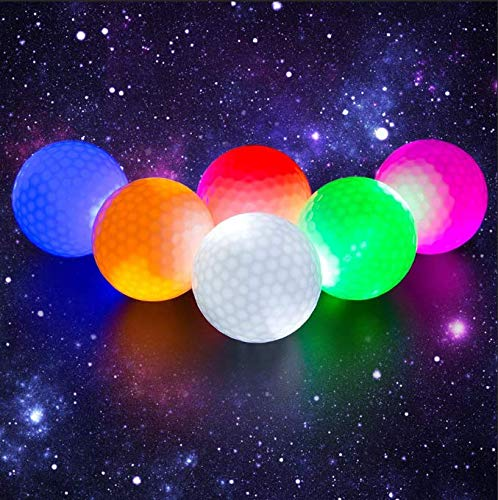 6 Pack Of Flashing Glowing Golf Balls by Crestgolf