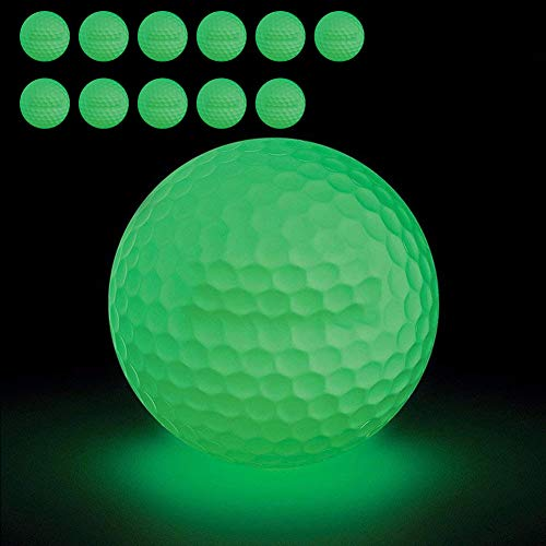 12 Pack Luminous Glow In The Dark Golf Balls by VintageBee