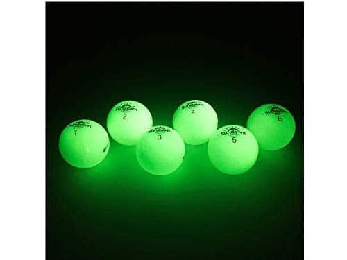 Glow In The Dark Golf Balls 6 Pack by Sundown Golf