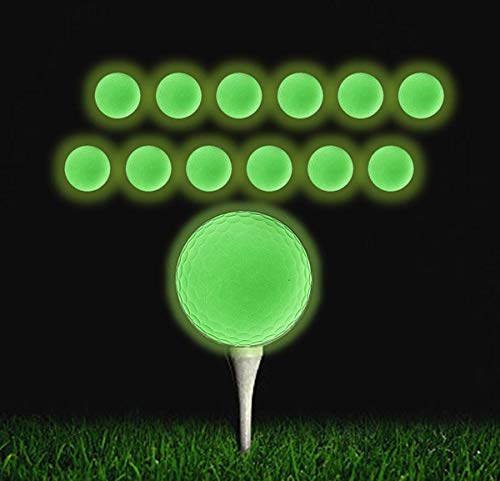 12 Pack Rechargeable Glow In The Dark Golf Balls by QBOSO