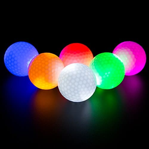 6 Pack LED Light Up Golf Balls by Ilysport