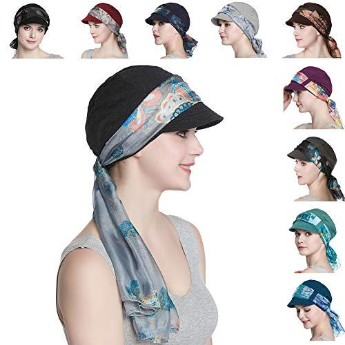Breathable Bamboo Fiber Lined Newsboy Hat and Scarf Set for Women