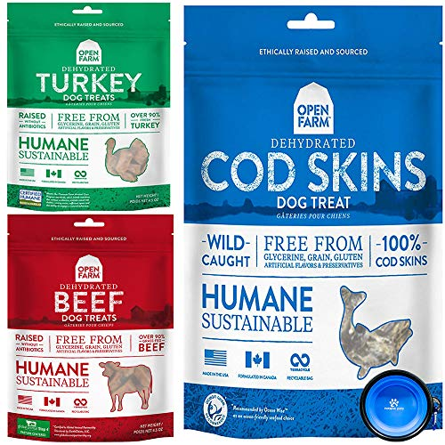 Open Farm Freeze-Dried Raw Dog Food Treat Snacks Bundle 3 Pack