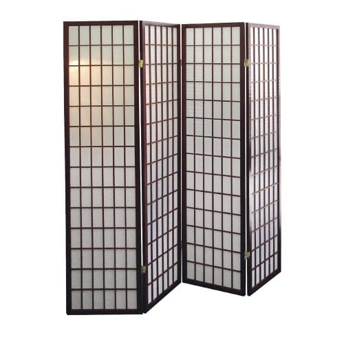 ORE International 4-Panel Room Divider in Cherry