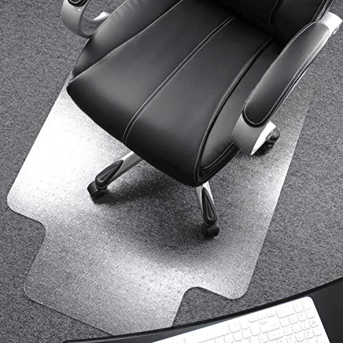 Floortex Cleartex UltiMat Polycarbonate Chair Mat for Low/Medium Pile Carpets up to 1/2