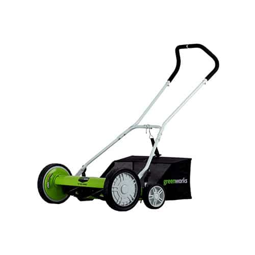Greenworks 20-Inch 5-Blade Push Reel Lawn Mower