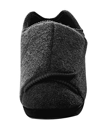 Silverts Disabled Elderly Needs Mens Extra Extra Wide Slippers for Swollen Feet with Adjustable Closure