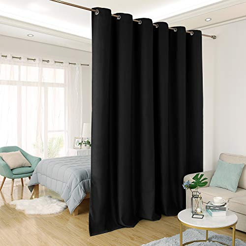 Deconovo Privacy Room Divider Curtain Thermal Insulated Blackout Curtains Screen Partition Room Darkening Panel for Shared Bedroom