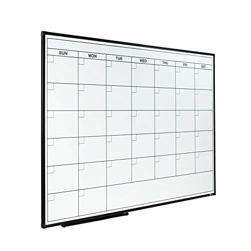 Lockways Dry Erase Calendar Whiteboard
