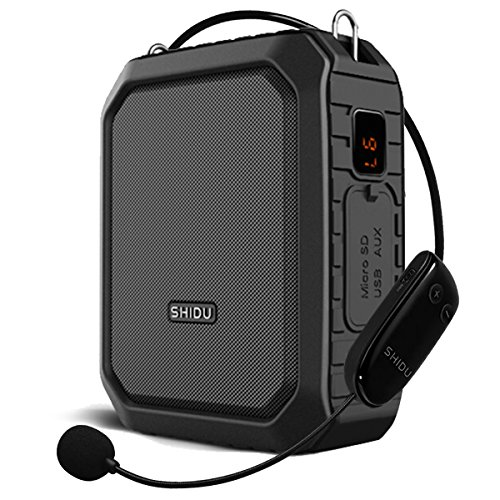 SHIDU Bluetooth Vocal Amplifier Speaker with Microphone Amplifier