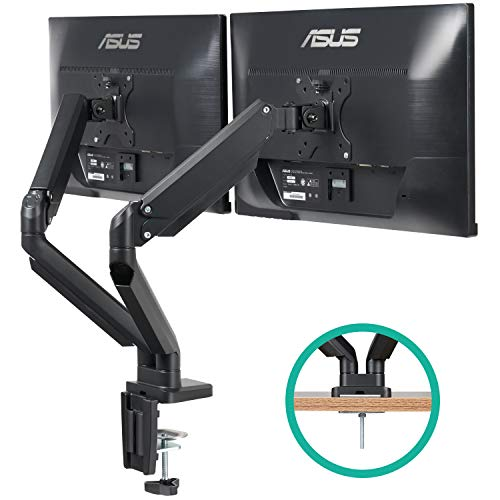 EleTab Dual Monitor Mount Stand - Height Adjustable Monitor Arm Stand Fully Articulating Counterbalance