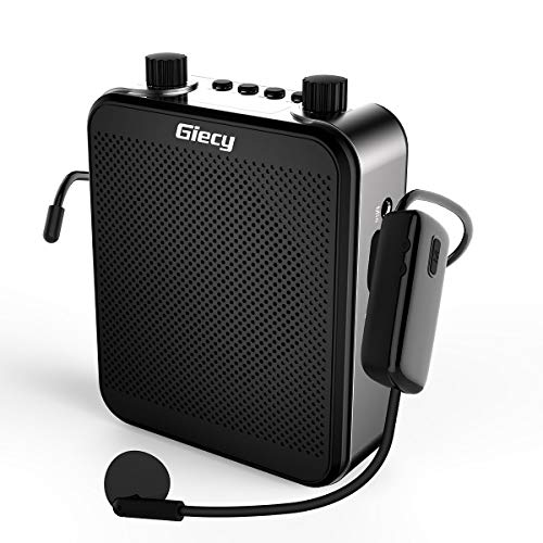 Giecy Wireless Personal Vocal Amplifier with UHF Microphone Headset