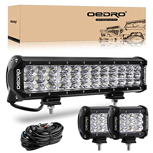 LED Light Bar 180W 12In Tri-Row OEDRO LED Light Pod