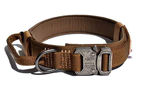 TUBERK Tactical Dog Collar, Military Training Control Handle