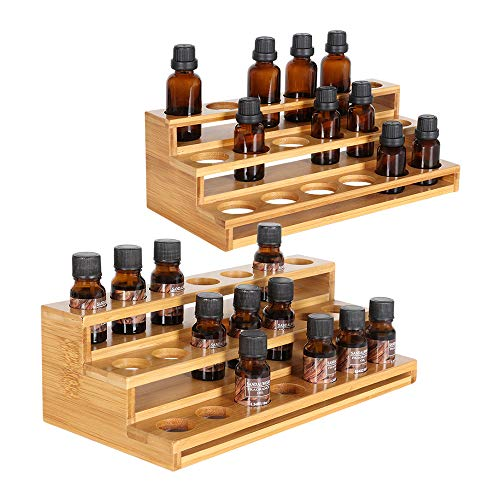 ILIANTRAL Natural Bamboo Essential Oils Storage Rack