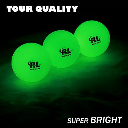 R&L Glow Golf Balls for Night Sports (3 Pack)
