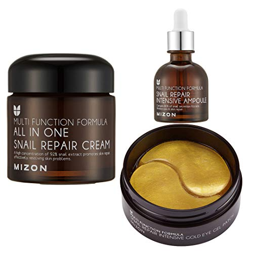 All in One Snail Repair Cream + Snail Ampoule + Snail Eye Gel Patches