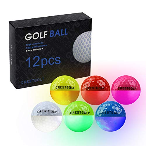 Crestgolf Led Glow Golf Balls in The Dark (12 Pcs)