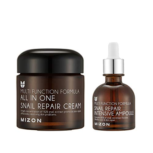 Mizon's All in One Snail Repair Cream & Snail Repair Intensive Ampoule Bundle