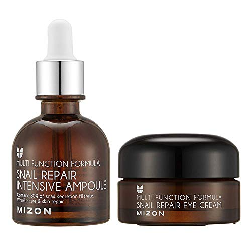 Mizon's Snail Repair Eye Cream & Snail Repair Intensive Ampoule Set