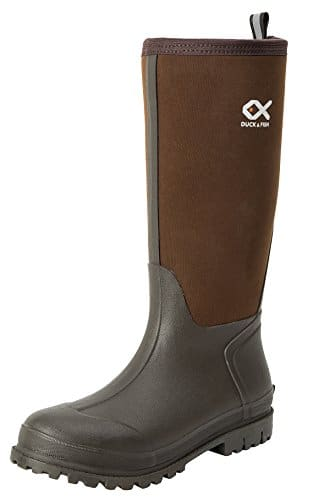 Duck and Fish Men 16 inches Fishing Hunting Neoprene Rubber Molded Outsole Knee Boot
