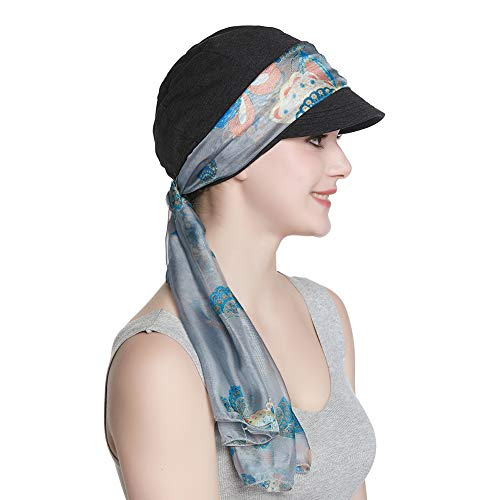 Breathable Bamboo Lined Cotton Hat and Scarf Set for Women